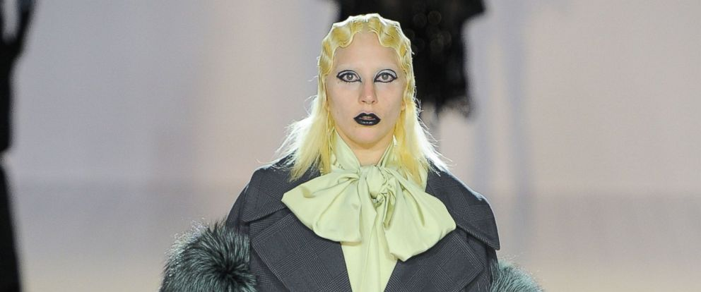 PHOTO: Lady Gaga walks the runway at the Marc Jacobs Fall/Winter 2016 fashion show during New York Fashion Week, Feb. 18, 2016, in New York.