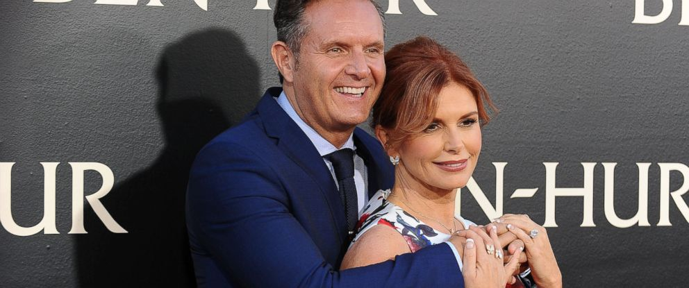 "PHOTO: Producer Mark Burnett and actress Roma Downey attend the premiere of ""Ben-Hur"" at TCL Chinese Theatre IMAX, Aug.16, 2016, in Hollywood, Calif."
