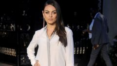 Mila Kunis Stuns in a Crisp White Shirt