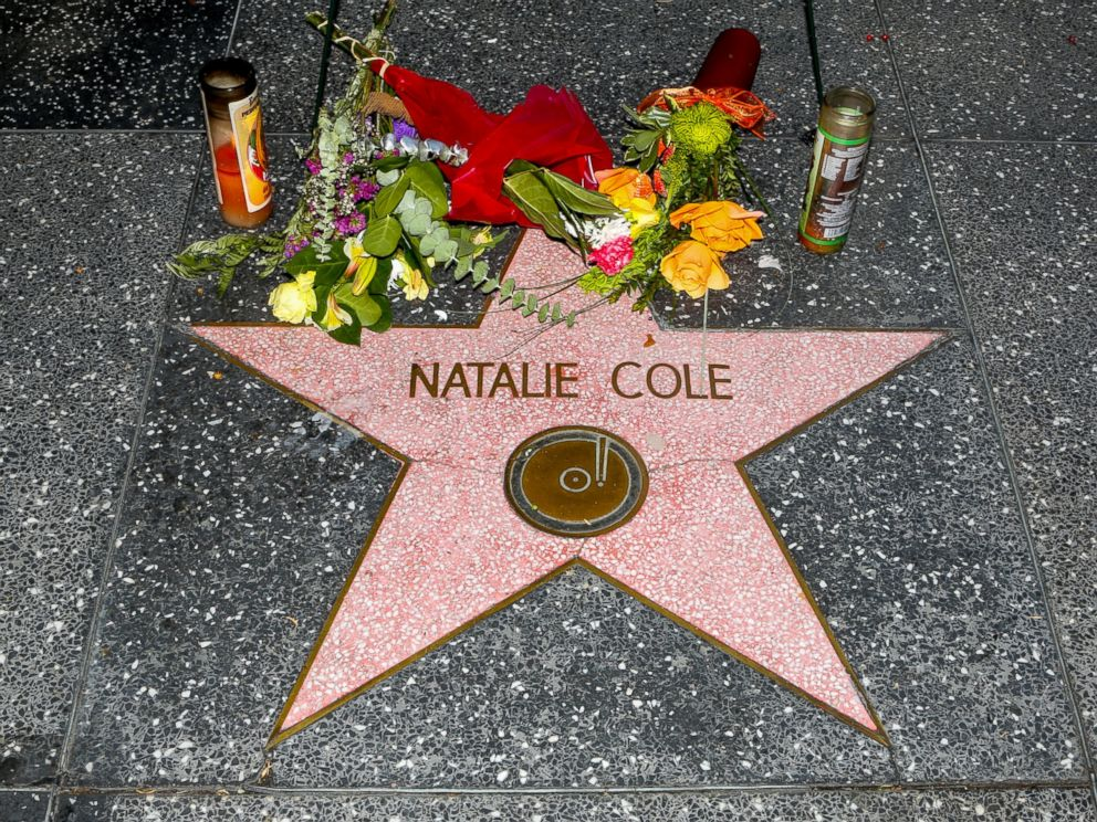 PHOTO: Natalie Cole has flowers placed on her star on The Hollywood Walk Of Fame , Jan. 4, 2016 in Hollywood, Calif.