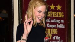 Nicole Kidman Gives the Wave in London