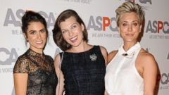 Nikki Reed and Milla Jovovich Strike a Pose with Kaley Cuoco
