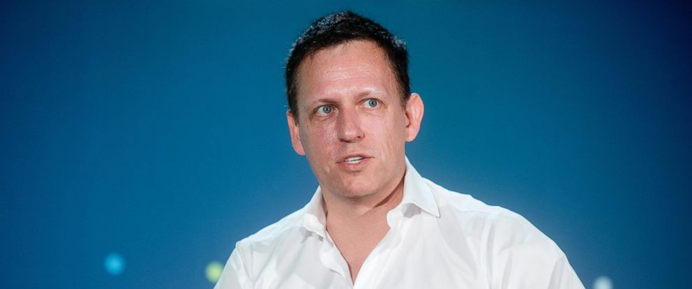 PHOTO: Peter Thiel, head of Clarium Capital Management LLC and founding investor in PayPal Inc. and Facebook Inc., speaks during the LendIt USA 2016 conference on April 12, 2016, in San Francisco.