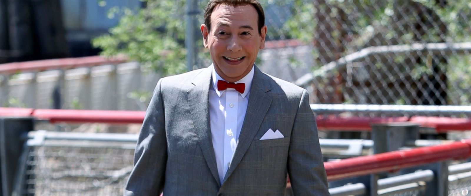 "PHOTO:Paul Reubens as Pee Wee Herman is seen filming, ""Pee Wees Big Holiday,"" May 7, 2015 in New York."