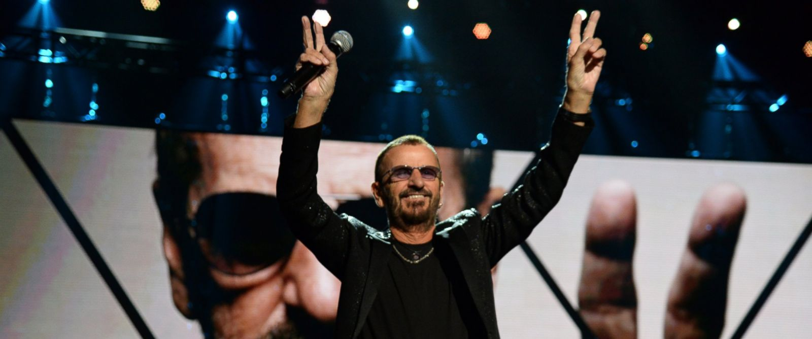 PHOTO: Ringo Starr performs onstage during the 30th Annual Rock And Roll Hall Of Fame Induction Ceremony at Public Hall, April 18, 2015, in Cleveland.