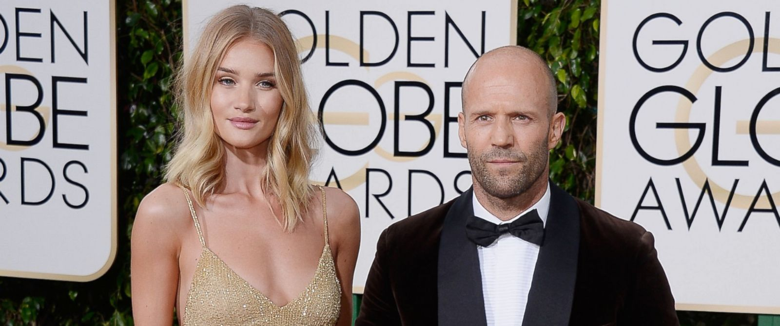 PHOTO: Actors Rosie Huntington-Whiteley and Jason Statham arrive to the 73rd Annual Golden Globe Awards held at the Beverly Hilton Hotel, Jan. 10, 2016.