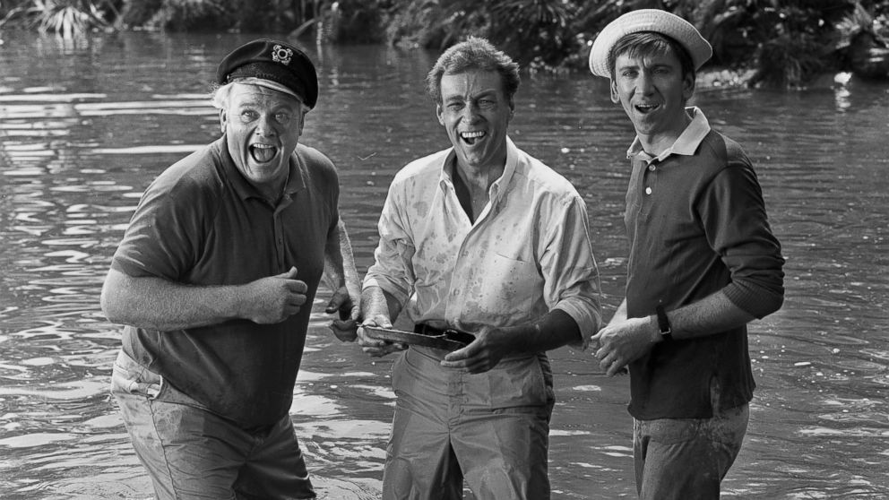 PHOTO: Alan Hale Jr. as the Skipper, Russell Johnson as the Professor and Bob Denver as Gilligan st