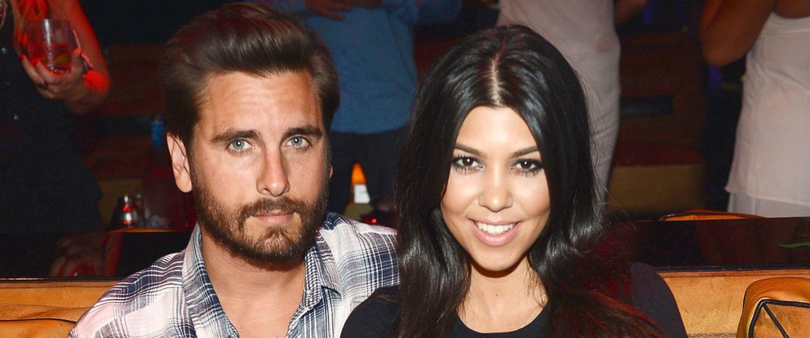 PHOTO: Scott Disick and Kourtney Kardashian celebrate Kourtney Kardashians birthday at 1 OAK Nightclub at The Mirage Hotel & Casino on April 18, 2015 in Las Vegas.