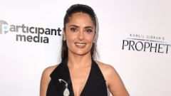 Salma Hayek Hits the Carpet in a Sexy Black Dress