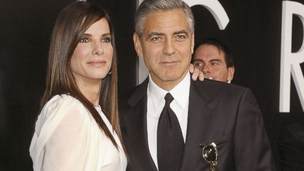 "PHOTO: Actors Sandra Bullock and George Clooney attend the ""Gravity"" premiere at AMC Lincoln Square Theater, Oct. 1, 2013 in New York."