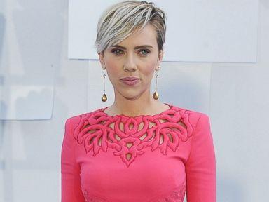 Scarlett Johansson Stuns in a Pink Jumpsuit