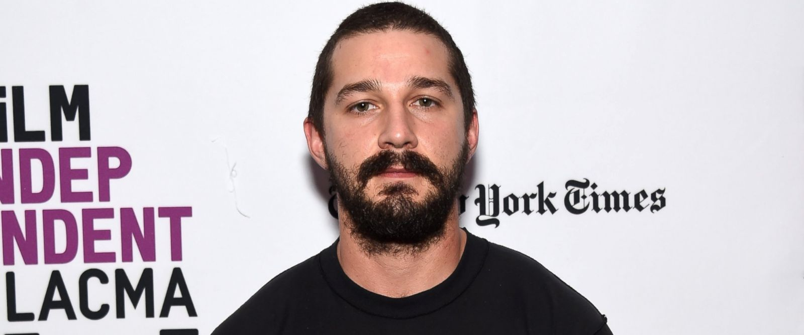 "PHOTO: Actor Shia LaBeouf attends the Film Independent Live Read of ""Dr. Strangelove"" with guest director Mark Romanek at the Bing Theatre at LACMA, Jan. 21, 2016, in Los Angeles."