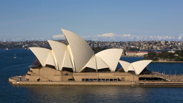 PHOTO: The Sydney Opera House is viewed from Harbour Bridge on Aug. 8, 2010, in Sydney.