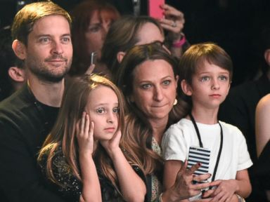 Photos:  Tobey Maguire and His Family Take in a Fashion Show