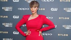 Tyra Banks Smizes in Red