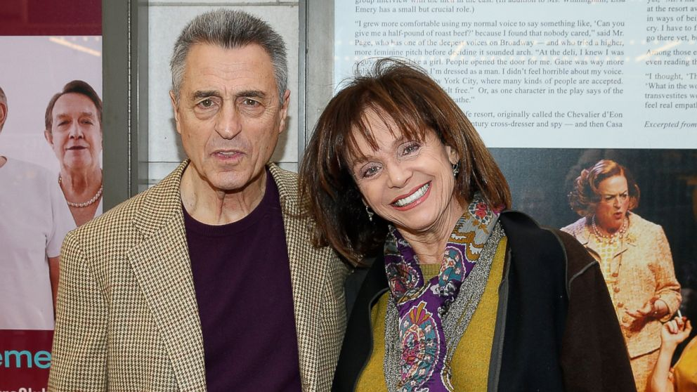 "PHOTO: Tony Cacciotti and Valerie Harper attend the Broadway opening night for ""Casa Valentina"" at Samuel J. Friedman Theatre on April 23, 2014, in New York City."
