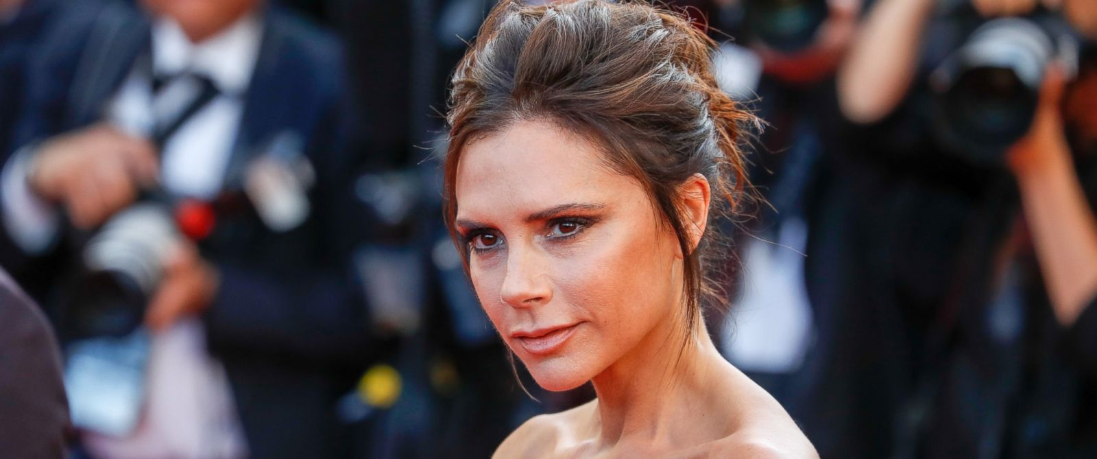"""PHOTO: Victoria Beckham attends the screening of """"Cafe Society"""" at the opening gala of the annual 69th Cannes Film Festival at Palais des Festivals on May 11, 2016 in Cannes, France."""