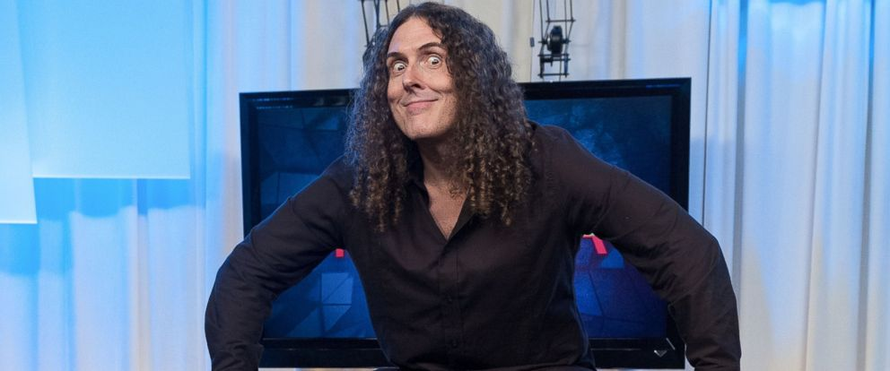 "PHOTO: ""Weird Al"" Yankovic visits Music Choices ""You & A"" on July 14, 2014 in New York City."