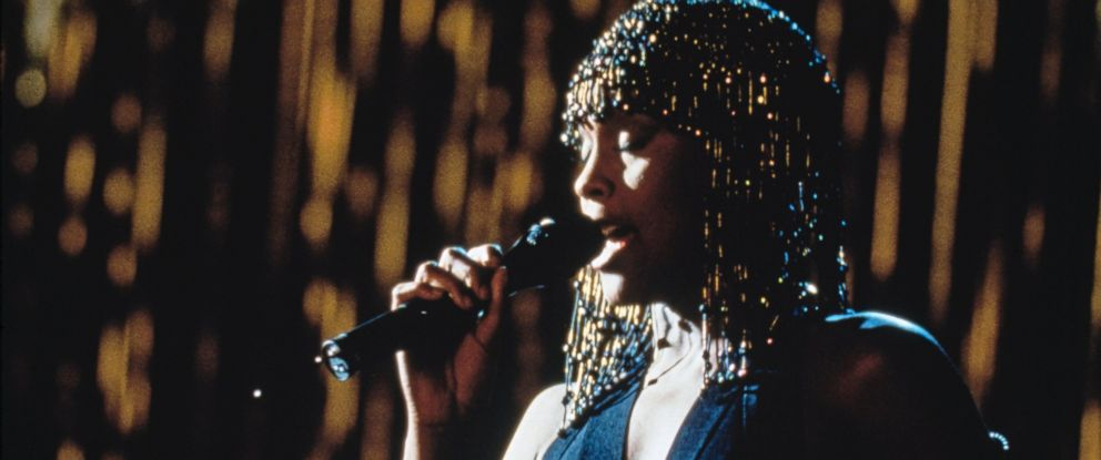 """PHOTO: American singer and actress Whitney Houston stars in the film """"The Bodyguard,"""" in 1992."""