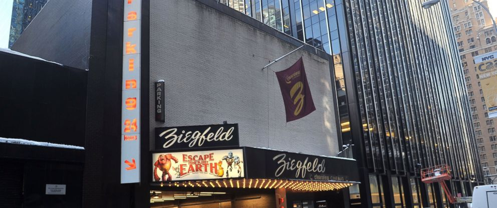 PHOTO: Exterior view of Ziegfeld Theatre, venue for The Weinstein Company Hosts A Special Screening Of Escape From Planet Earth on Feb. 10, 2013 in New York City.