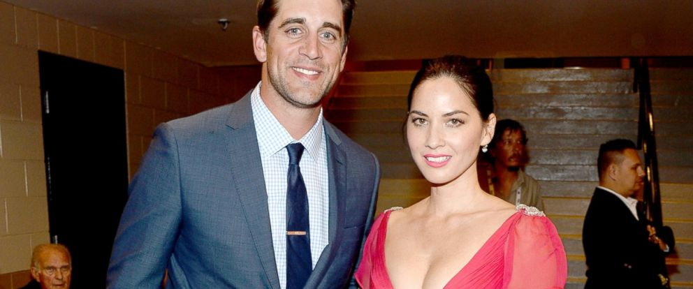 PHOTO: Aaron Rodgers and Olivia Munn attend the 49th Annual Academy of Country Music Awards at the MGM Grand Garden Arena, April 6, 2014, in Las Vegas.