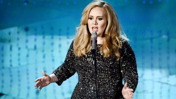 PHOTO: Adele performs onstage during the Oscars held at the Dolby Theater, Feb. 24, 2013, in Hollywood, Calif.