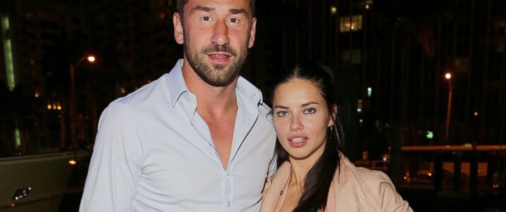 PHOTO: Marko Jaric and Adriana Lima attend the Miami International Boat Show in Miami Beach, Fla.