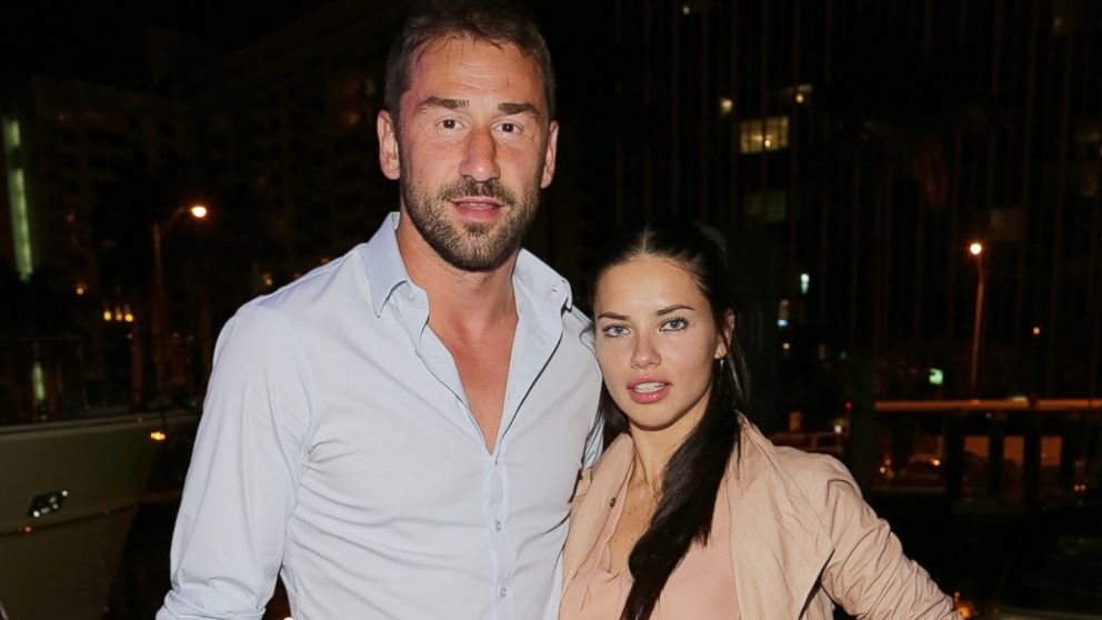 PHOTO: Marko Jaric and Adriana Lima attend the Miami International Boat Show in Miami Beach, Fla.