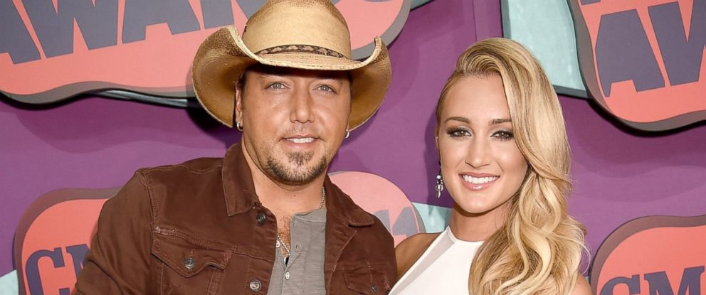 PHOTO: Jason Aldean and Brittany Kerr attend the 2014 CMT Music awards at the Bridgestone Arena, June 4, 2014, in Nashville.