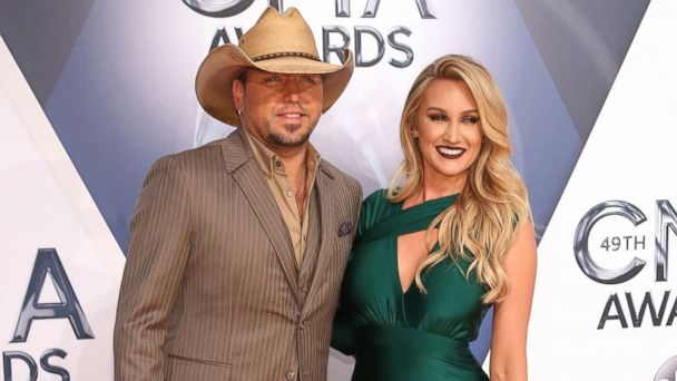 PHOTO: Jason Aldean and Brittany Kerr attend the 49th annual CMA Awards at the Bridgestone Arena, Nov. 4, 2015, in Nashville.