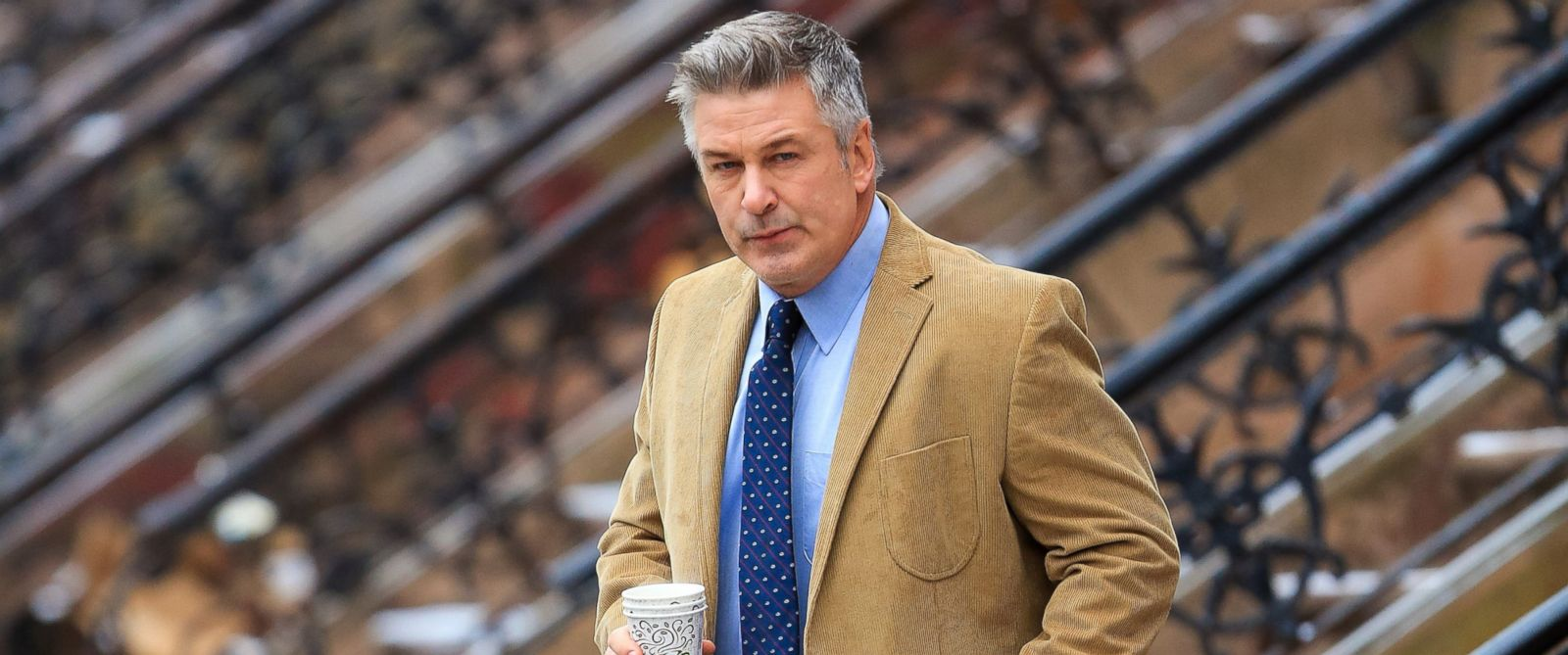 "PHOTO: Alec Baldwin is pictured on location for ""Still Alice"" on March 3, 2014 in New York City."