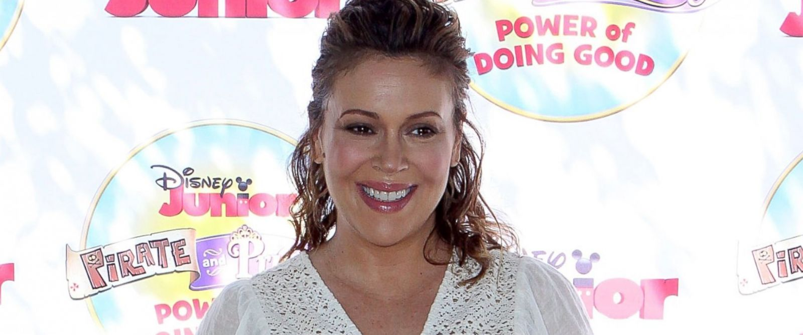 "PHOTO: Alyssa Milano attends Disney Juniors ""Pirate And Princess: Power Of Doing Good"" Tour at Brookside Park, Aug. 16, 2014, in Pasadena, Calif."