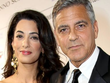 PHOTO: Amal Alamuddin and George Clooney in Florence, Italy, Sept. 7, 2014.