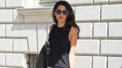 Amal Clooney Stuns in Patterned Pants