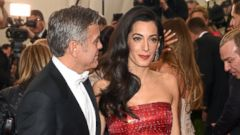 Amal and George Clooney Attend Their First Met Gala Together
