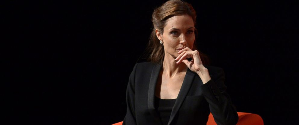 PHOTO: Angelina Jolie listens during the the Global Summit to End Sexual Violence