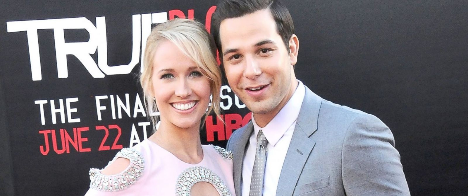 PHOTO: Anna Camp and actor Skylar Astin arrive at HBOs True Blood Final Season Premiere, June 17, 2014, at TCL Chinese Theatre in Hollywood, Calif.