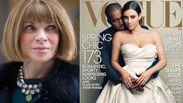 GTY anna wintor vogue kim kardashian kanye sk 140321 16x9 608 Anna Wintour Says Kardashian/West Vogue Cover Was Entirely Our Idea