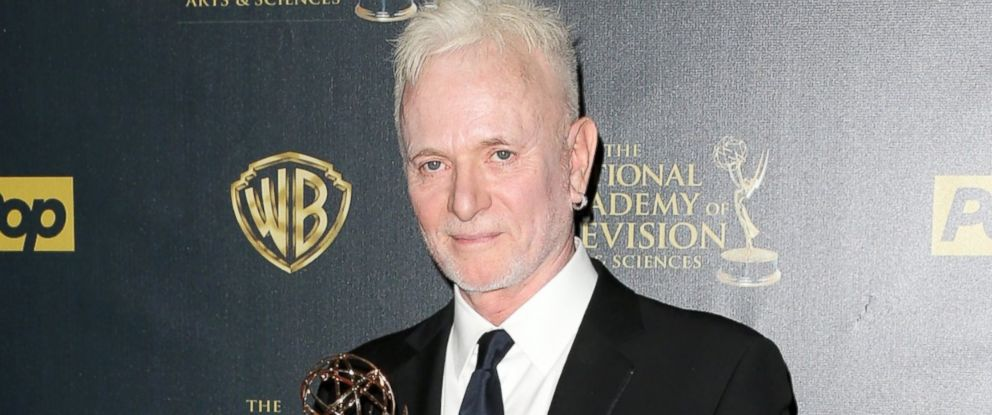 "PHOTO: Anthony Geary accepts Outstanding Lead Actor in a Drama Series award for ""General Hospital"" poses in the press room during The 42nd Annual Daytime Emmy Awards at Warner Bros. Studios, April 26, 2015, in Burbank, Calif."