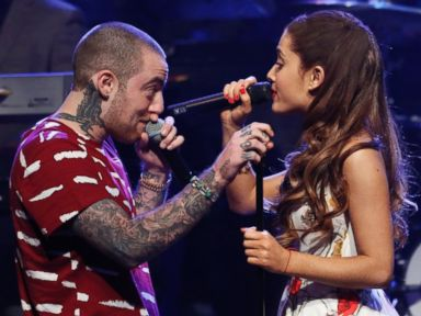 PHOTO: Ariana Grande and Mac Miller perform on Late Night with Jimmy Fallon, June 14, 2013 in New York City.