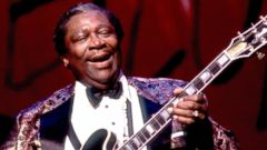 PHOTO: B.B. King is pictured performing on Oct. 19, 1991 in Chicago.