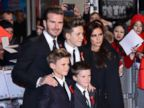 PHOTO: David and Victoria Beckham, with their sons