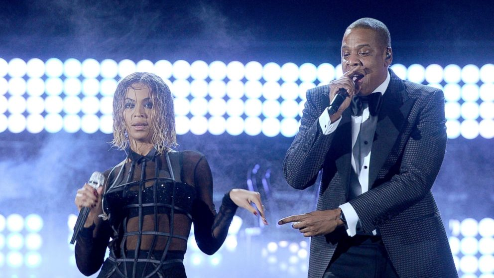 PHOTO: Singer Beyonce Knowles and rapper Jay-Z perform onstage during the 56th GRAMMY Awards at Staples Center, Jan. 26, 2014 in Los Angeles.