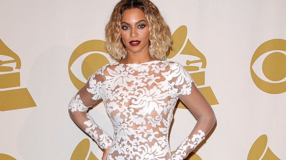 PHOTO: Beyonce poses in the press room at the 56th GRAMMY Awards at Staples Center, Jan. 26, 2014, in Los Angeles.