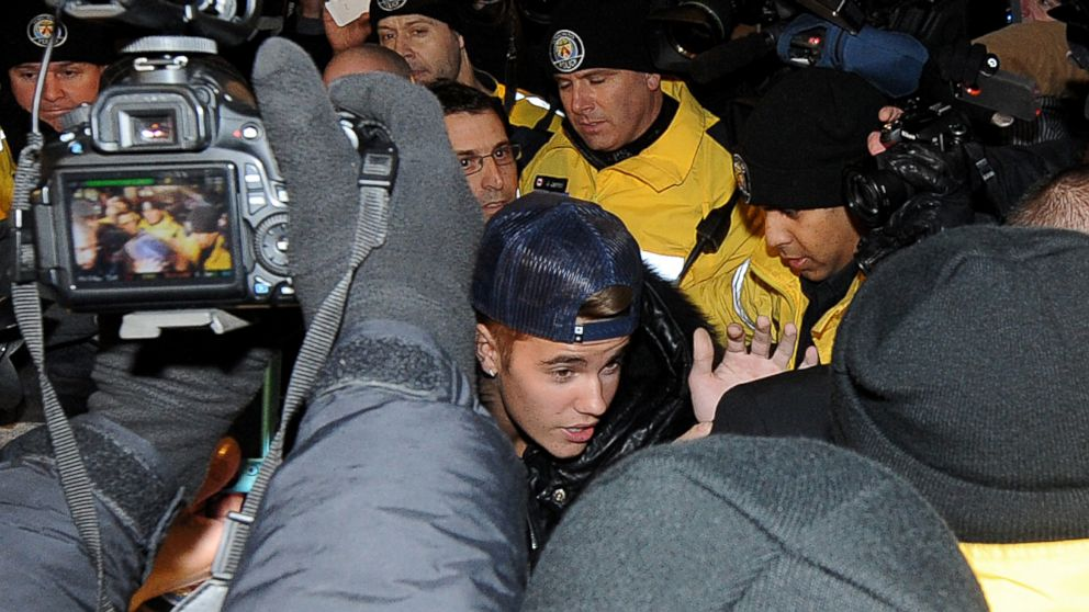 PHOTO: In this file photo, Justin Bieber appears at a police station in connection with an alleged criminal assault on Jan. 29, 2014 in Toronto, Canada.