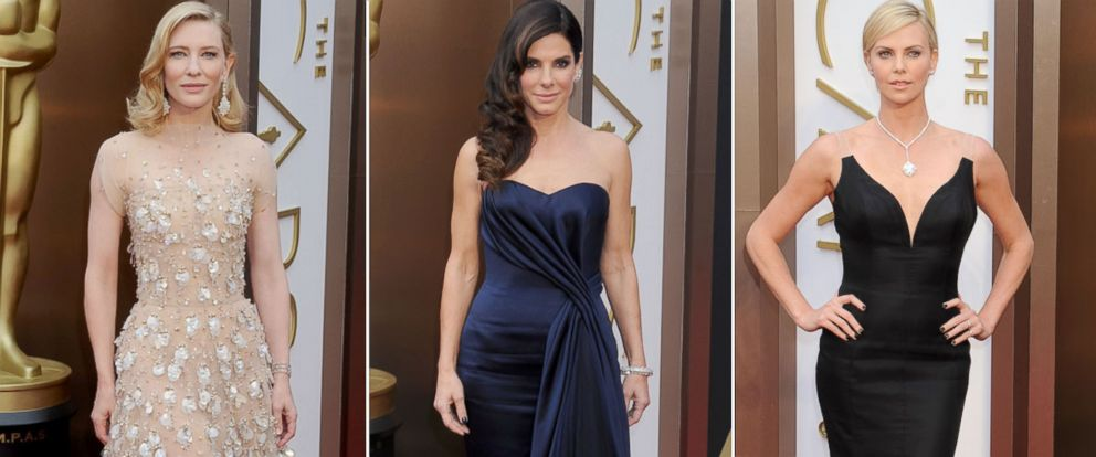 PHOTO: From left, Cate Blanchett, Sandra Bullock and Charlize Theron at the Academy Awards