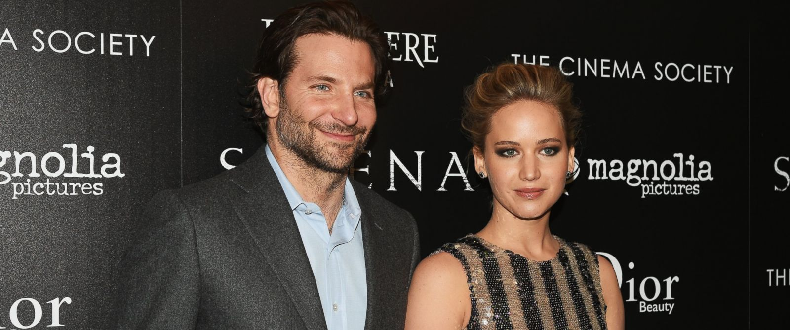 "PHOTO: Actors Bradley Cooper and Jennifer Lawrence attend a screening of ""Serena"" hosted by Magnolia Pictures and The Cinema Society with Dior Beauty in New York City, March 21, 2015."