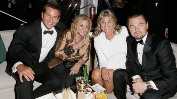GTY bradley cooper leonardo dicaprio mother tk 140113 16x9 608 Leonardo DiCaprio and Bradley Cooper Bring Their Moms to Golden Globes