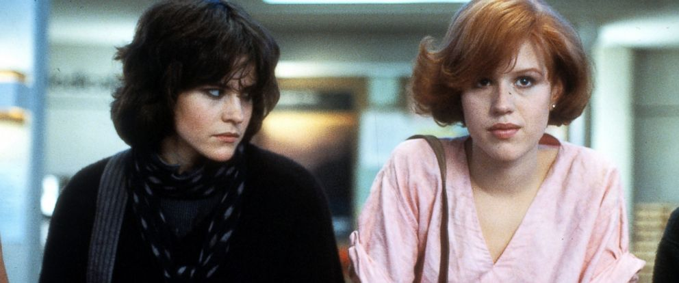 PHOTO: Ally Sheedy and Molly Ringwald in a scene from the film The Breakfast Club, 1985.