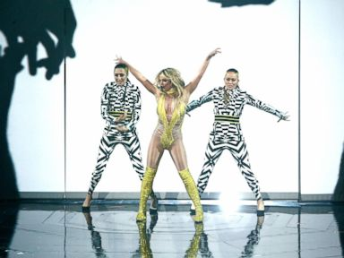 PHOTO: Britney Spears performs onstage during the 2016 MTV Music Video Awards at Madison Square Garden, Aug. 28, 2016, in New York City.